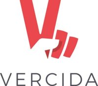 VERCIDA's logo, which is a combination of a hand, showing the victory/peace sign and the letter V
