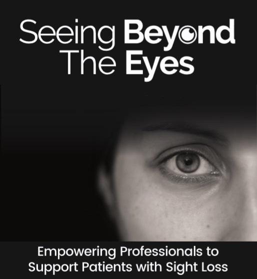 Seeing Beyond the Eyes logo showing a close up of a woman's eye