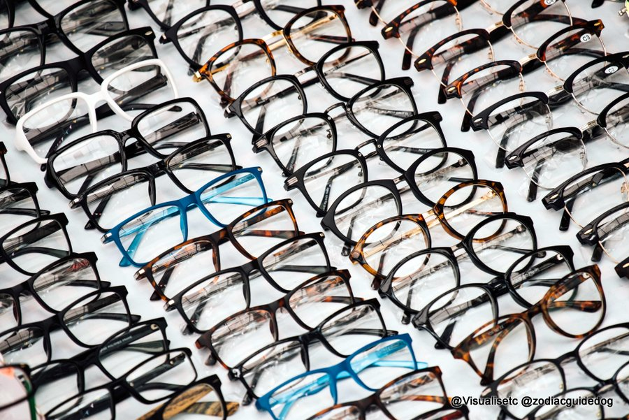 Rows of specs on a rack