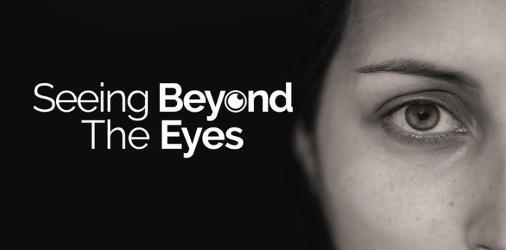 Seeing Beyond the Eyes logo showing close up of woman's eye