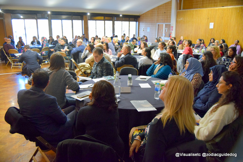 Large audience at a CET training event